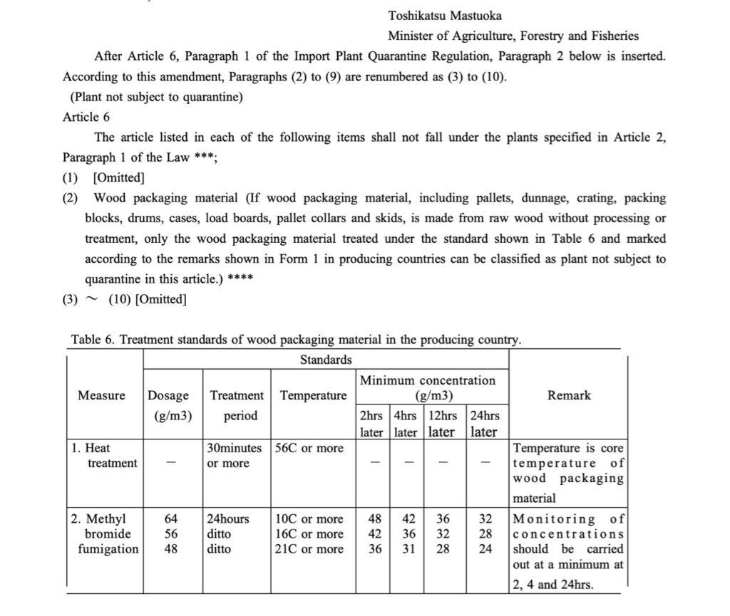 輸入材の臭化メチル燻蒸・キュアファニシング・MWW